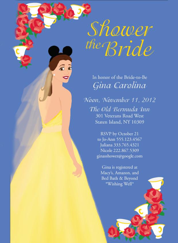 Disney Princess Bridal Shower Invitation