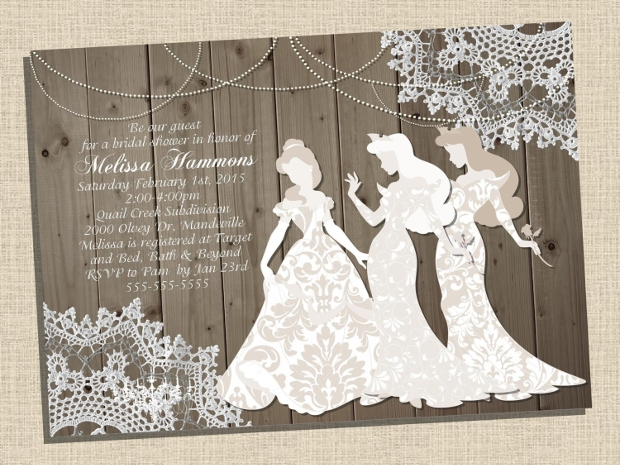 Vintage Disney Bridal Shower Invitation