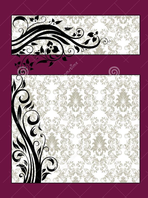 Purple Floral Bridal Shower Invitation