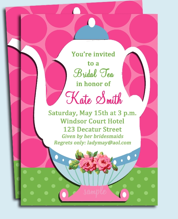 Printable Tea Party Bridal Shower Invitation