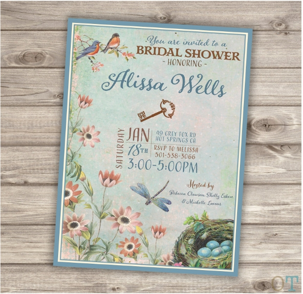Secret Garden Bridal Shower Invitation