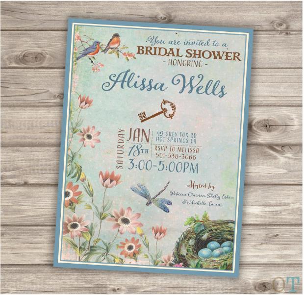 Secret Garden Bridal Shower Invitation