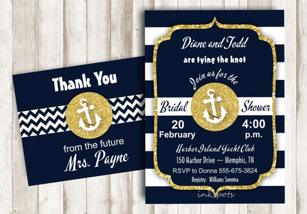 Printable Nautical Bridal Shower Invitation