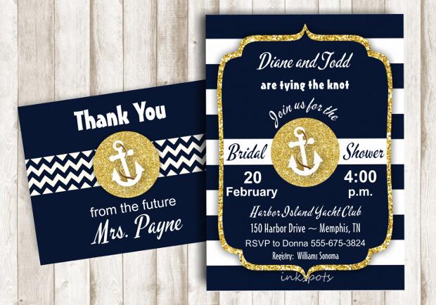 Printable Nautical Bridal Shower Invitation