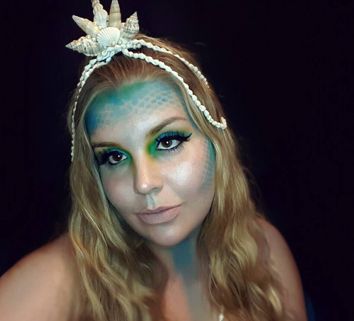 Mythical Mermaid Makeup Idea
