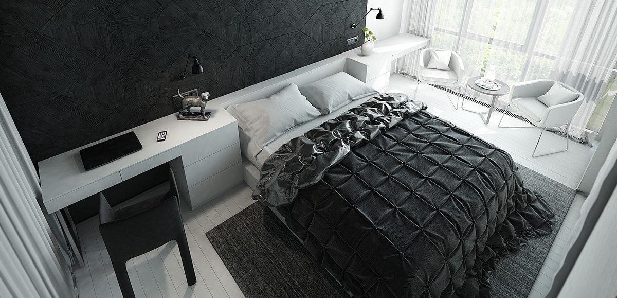 textured bedroom
