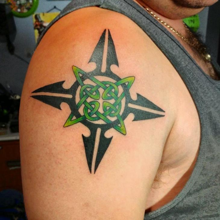 Celtic Tribal Sleeve Tattoo