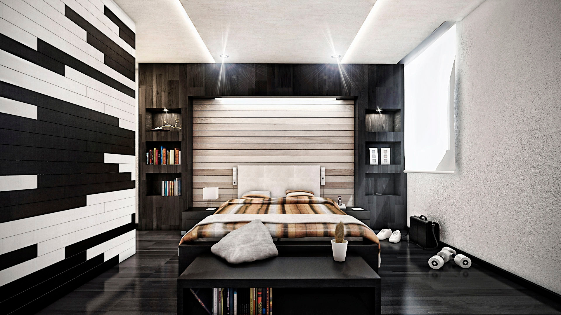 Modern Black And White Bedroom Designs Design Trends Premium Psd