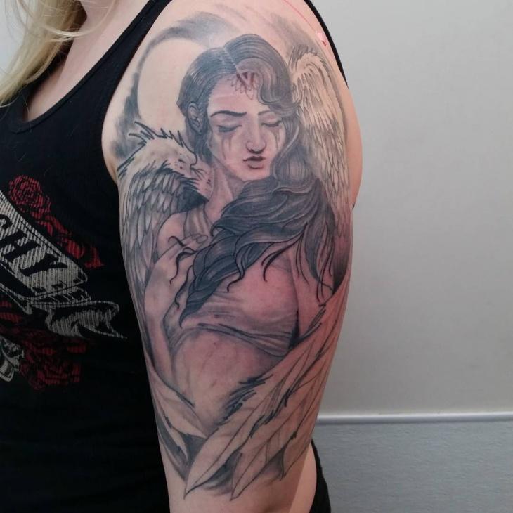 Angel Wing Sleeve Tattoo