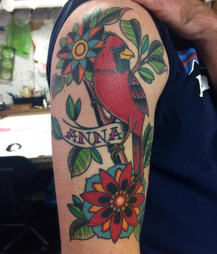 Mandala Flower Sleeve Tattoo