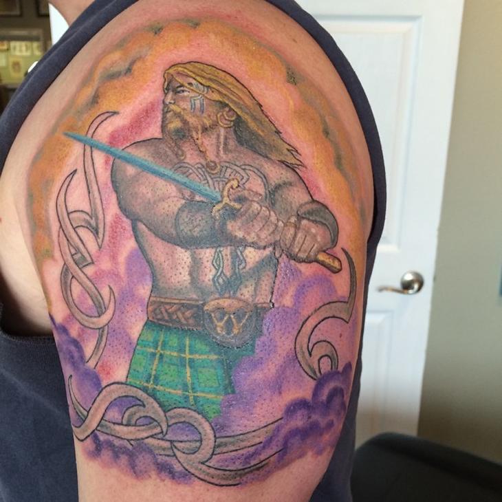 Scottish Warrior Tattoos: 43+ Sleeve Tattoo Designs, Ideas