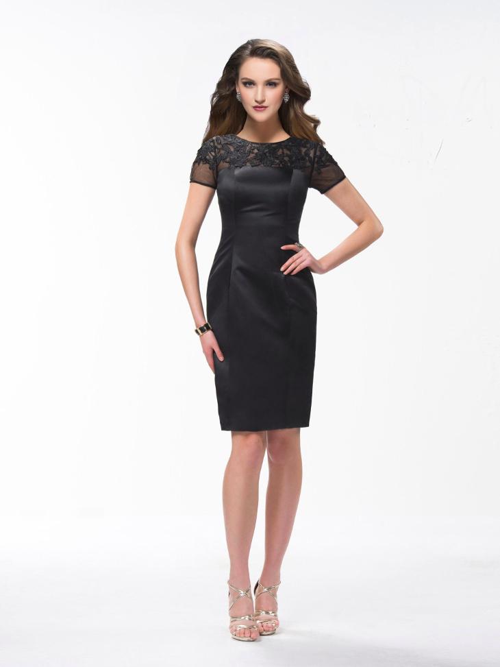 short sleeve formal dress