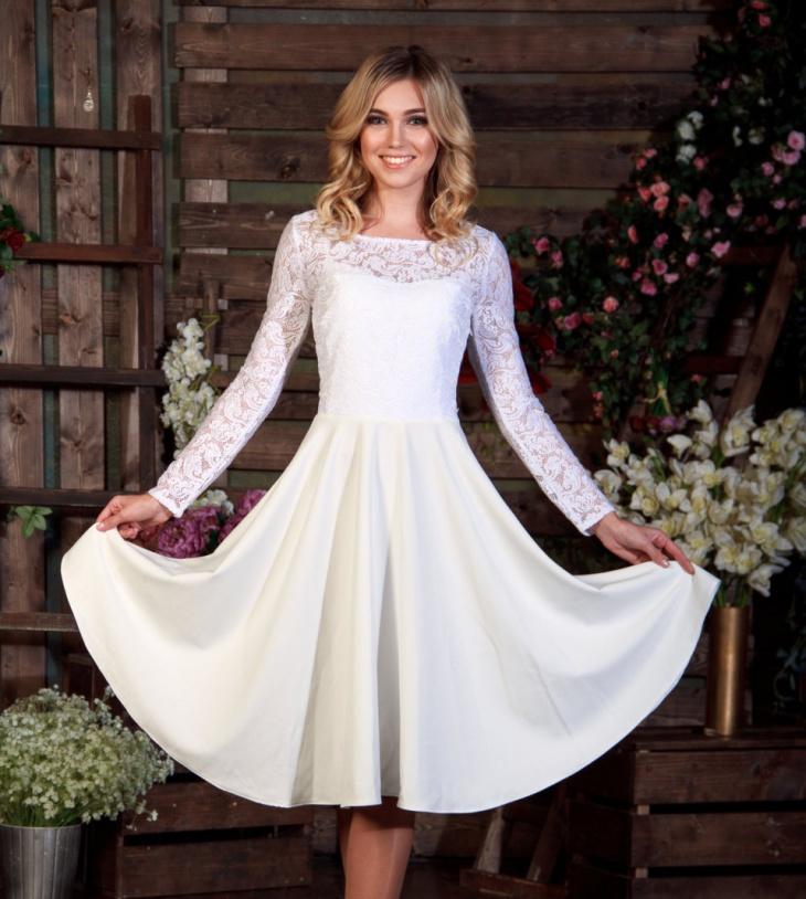 lace long sleeve formal dress