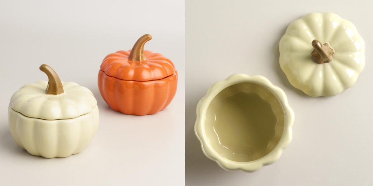 World Market Ceramic Pumpkin Bakers