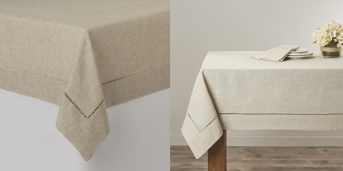 Saro Toscana Hemstitched Tablecloth