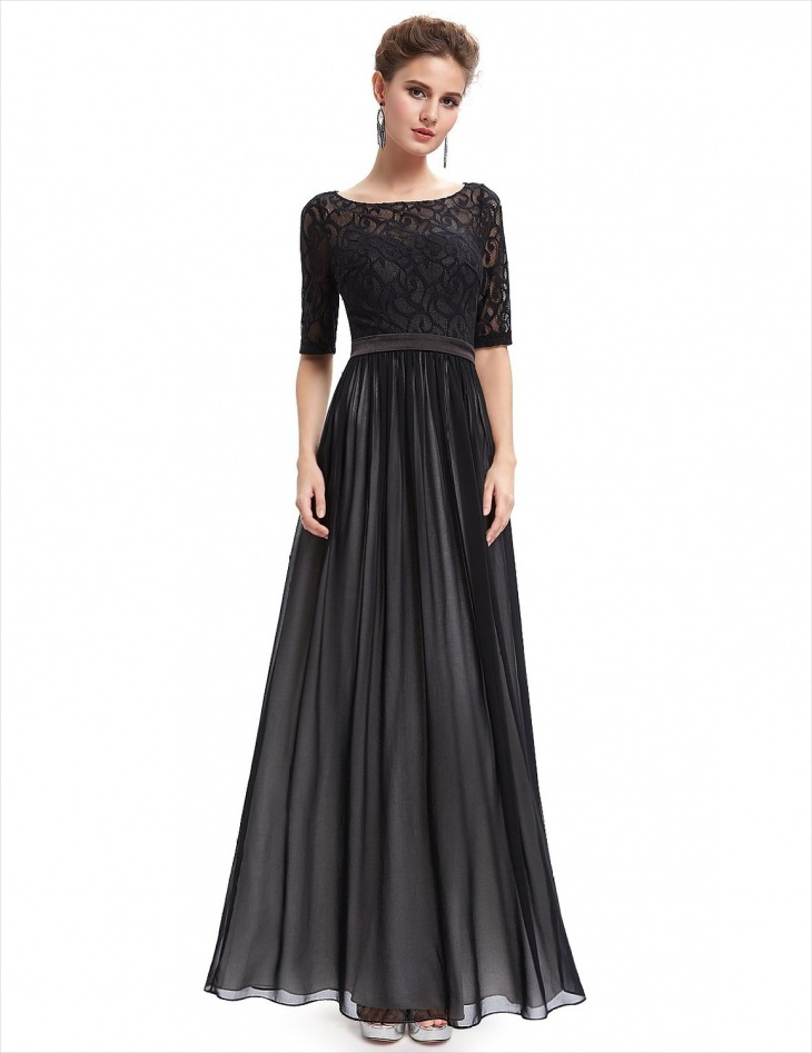 Formal Long Sleeve Maxi Dress