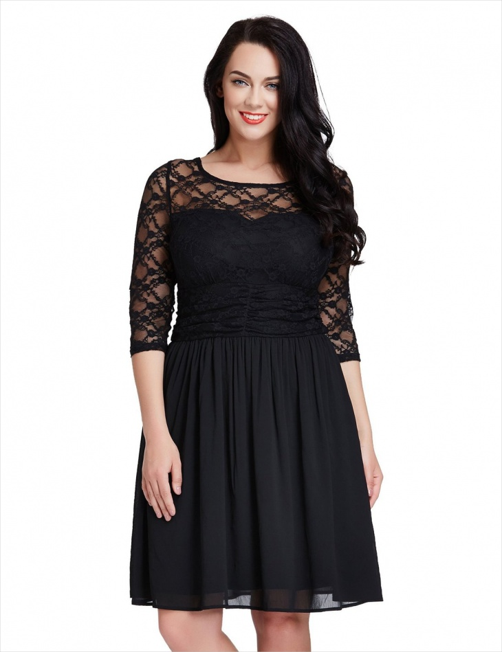 black formal skater dress