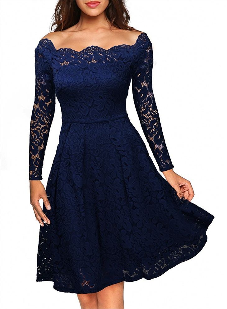 Long Sleeve Formal Skater Dress