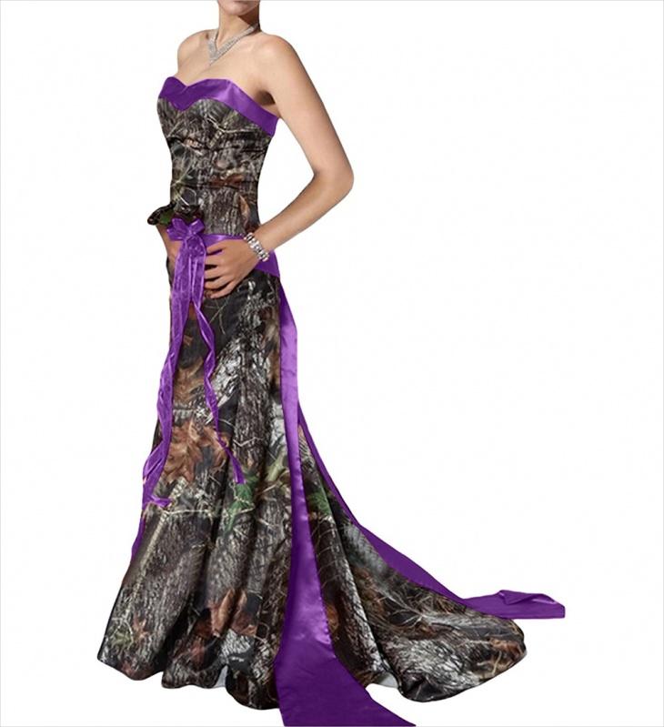 purple camo formal dress