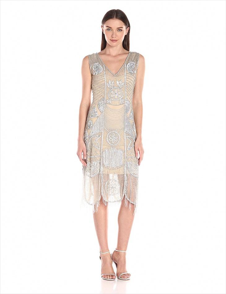 vintage beaded formal dress