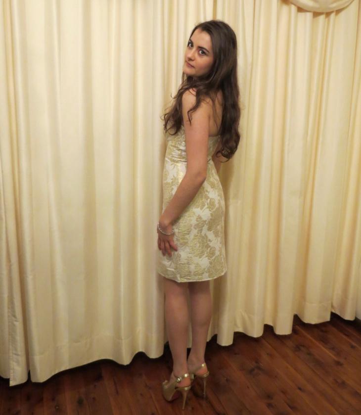 strapless semi formal dress