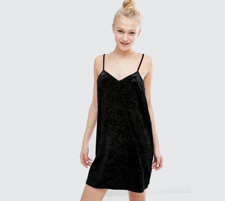 velvet semi formal dress
