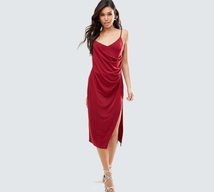 semi formal wrap dress