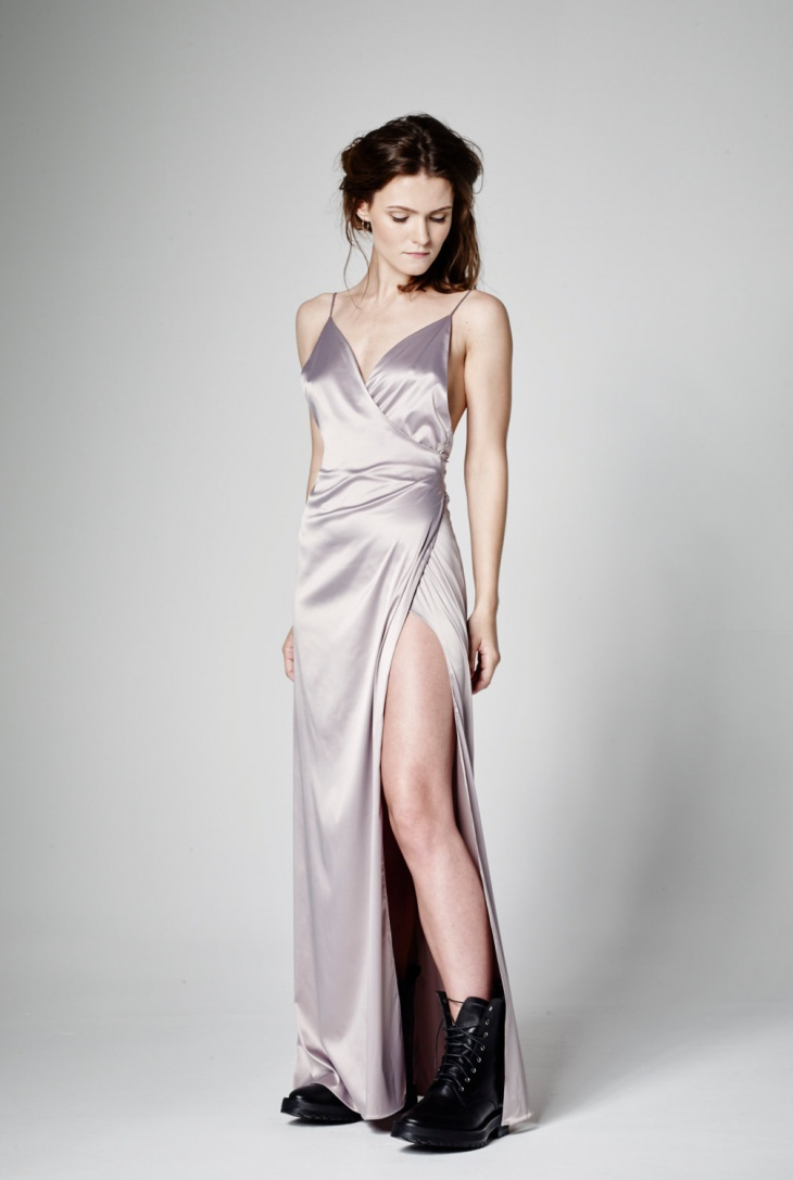 Long Formal Wrap Dress