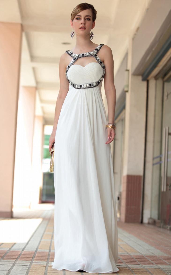 long white formal dress