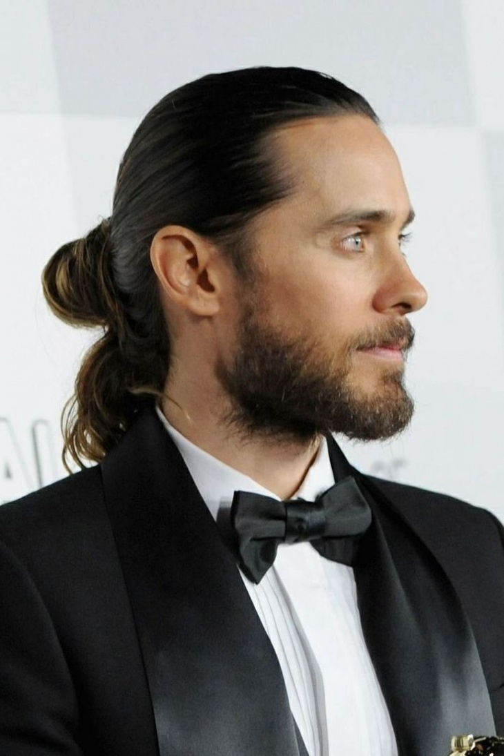jared leto long samurai hairstyle for men