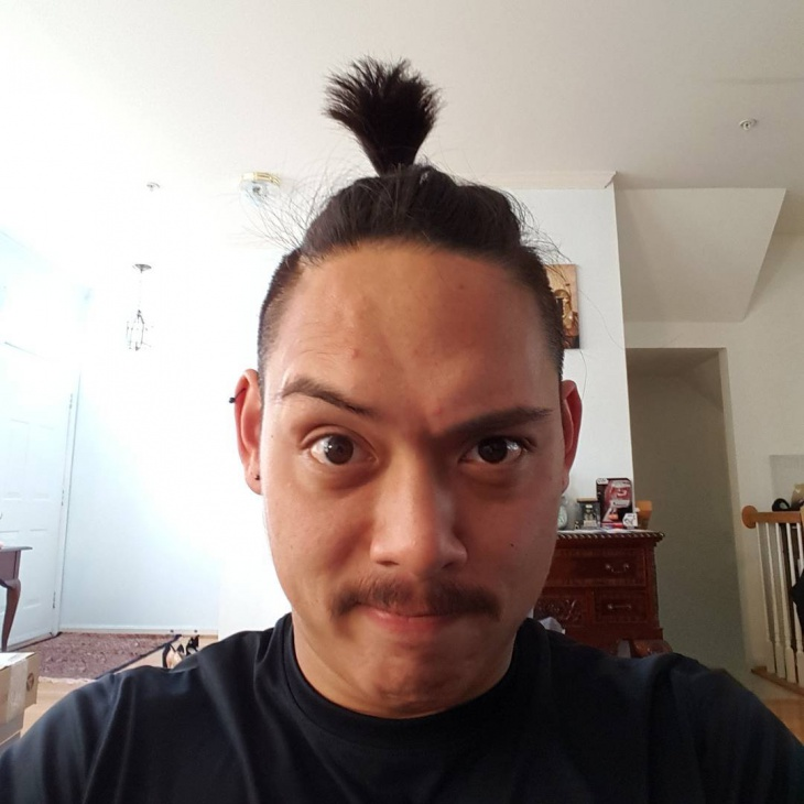 short samurai men hairstyle