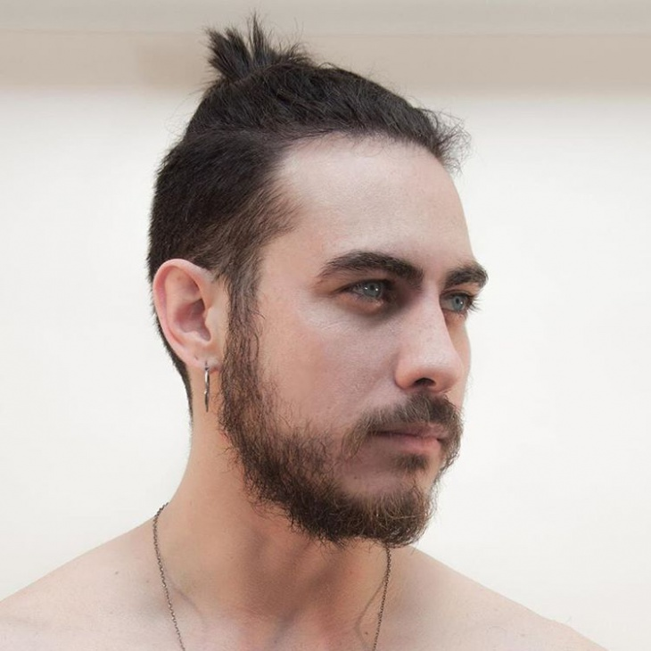 short samurai haircut idea