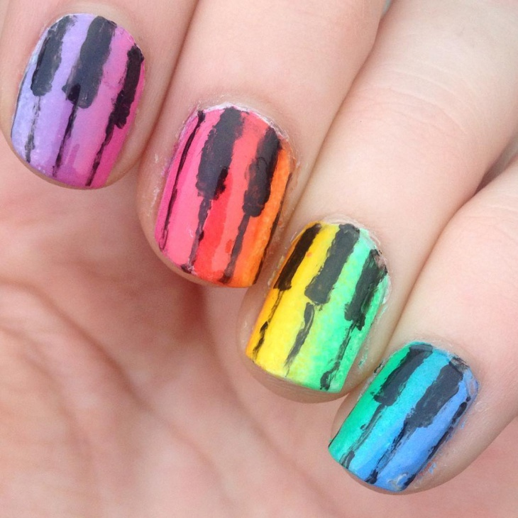 Cute Piano and music toe Nail Art Design