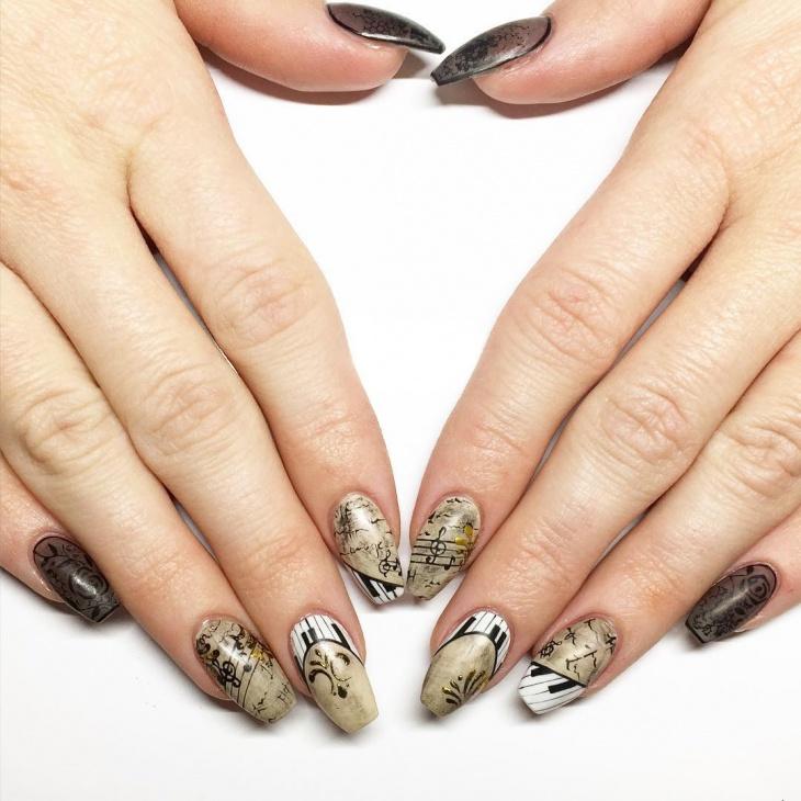 wonderful sharp piano nails