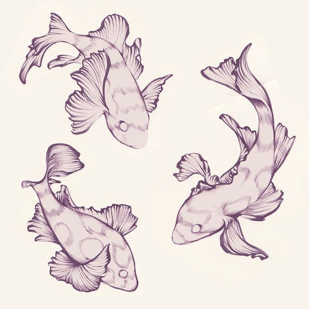 water animal drawing