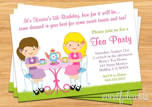 Kid's Tea Party Invitation