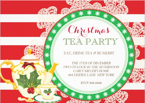19  tea party invitation designs