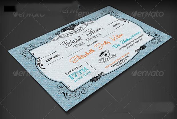 Royal Bridal Tea Party Invitation