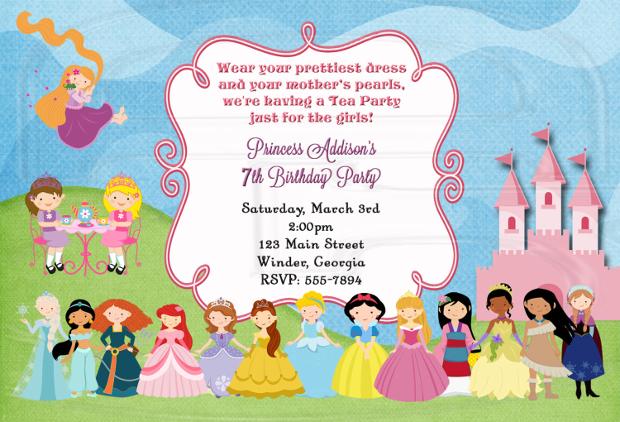 Birthday Princess Tea Party Invitation
