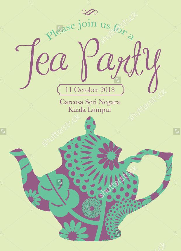 Messy Tea Party Invitation
