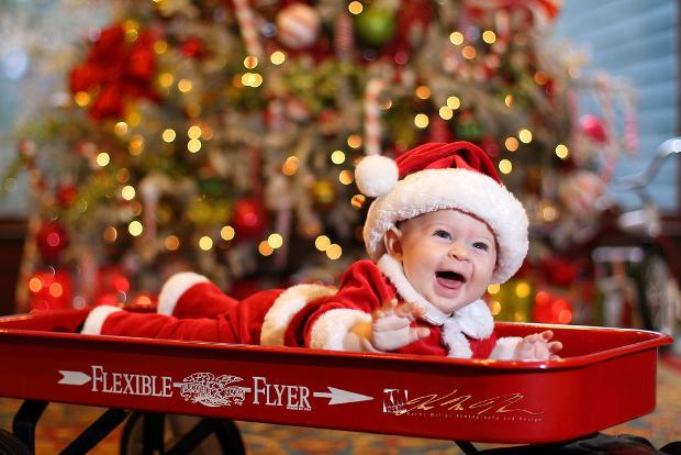 baby santa photography