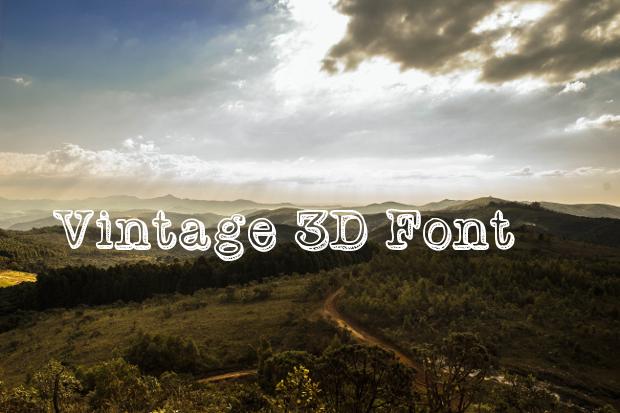 vintage 3d font