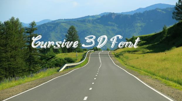 cursive 3d font