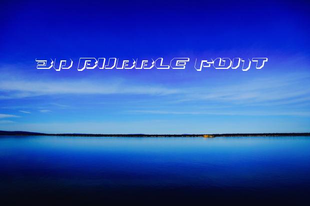3d bubble font