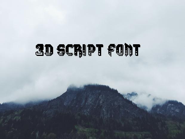 3d script font