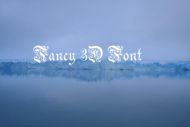 fancy 3d font