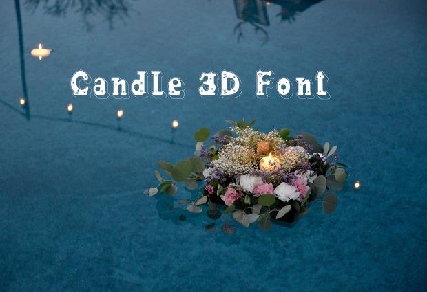 candle 3d font
