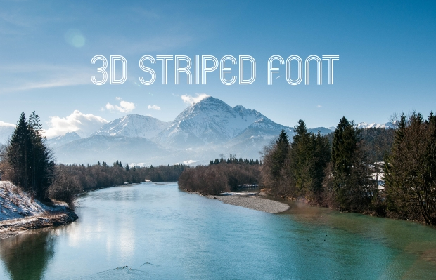3D Striped Font