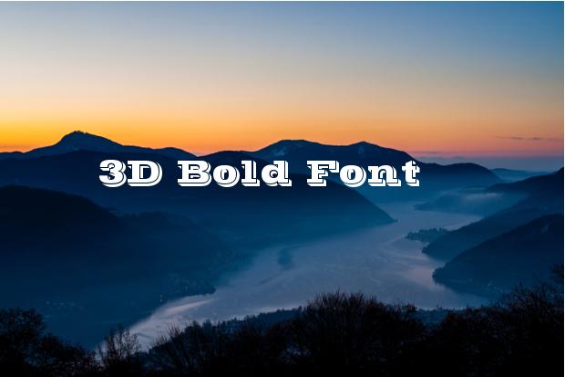 3d-bold-font