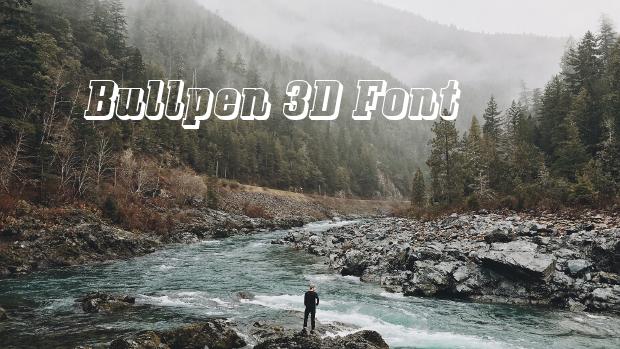 bull pen 3d font
